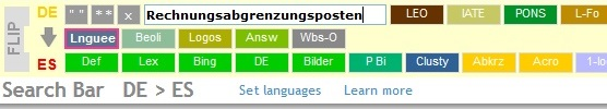 Quick multi-site terminology search | Terminologiesuche in verschiedenen Online-Quellen