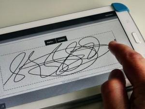 Unterschrift Tablet