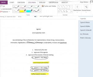 OneNote Ttext bearbeiten - zum Vergrößern klicken