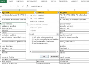 Search function Excel