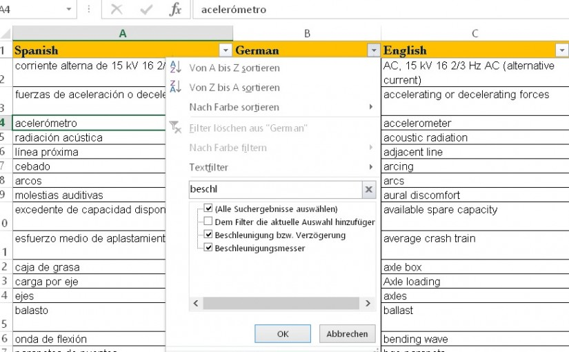 MS-Excel and MS-Access – are they any good for the booth? | Taugen MS-Excel und MS-Access für die Dolmetschkabine?
