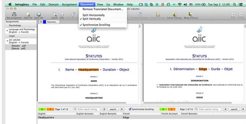 Booth-friendly terminology management: Intragloss – the missing link between texts and glossaries|die Brücke zwischen Text und Glossar